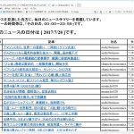 平成29年8月分のオンラインニュース一覧を掲載!!オンラインニュースを見逃した貴方に!